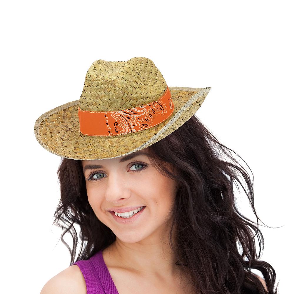 Paisley Straw Cowboy Hat Image #2