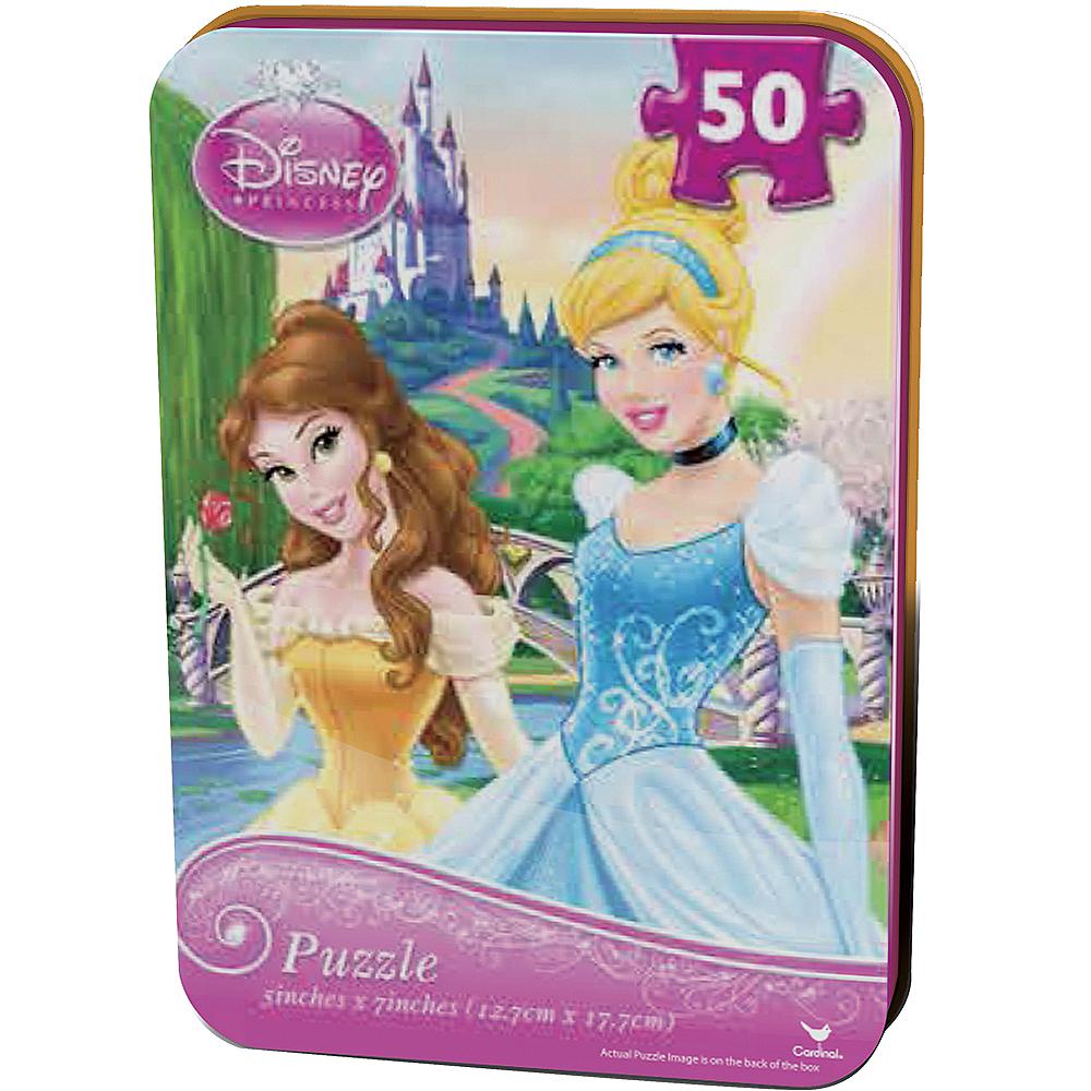 Disney Princess Belle Cinderella Puzzle Tin 48pc Party City