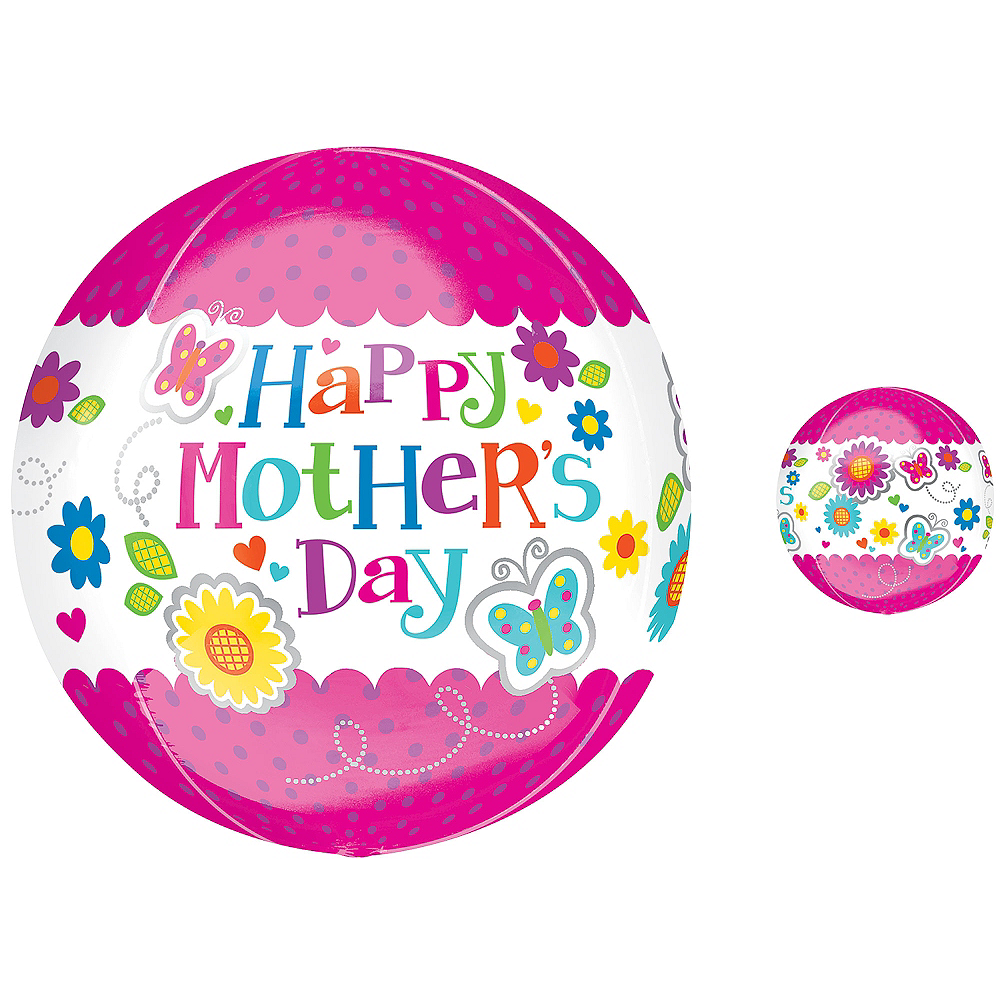 Nav Item for Orbz Mother's Day Globe Balloon Image #1