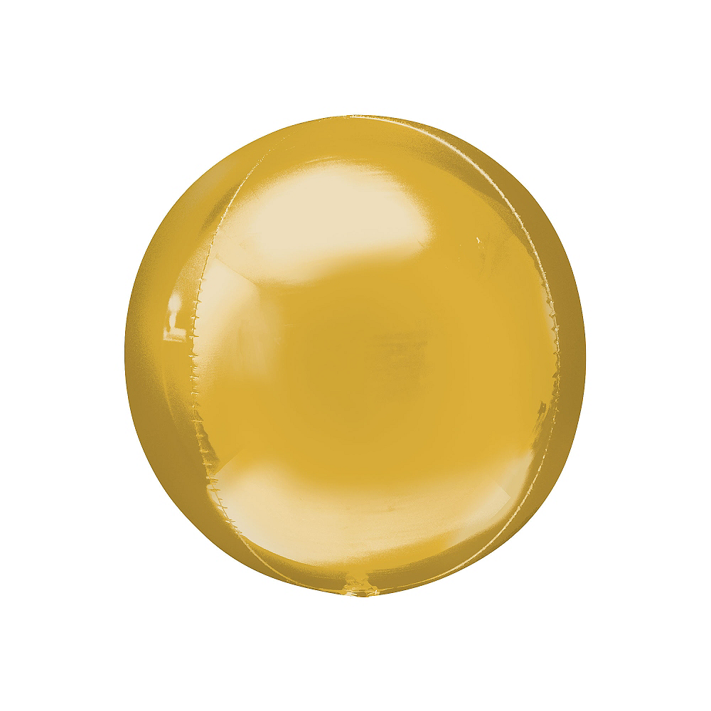 Gold Orbz Balloon, 16in Image #1