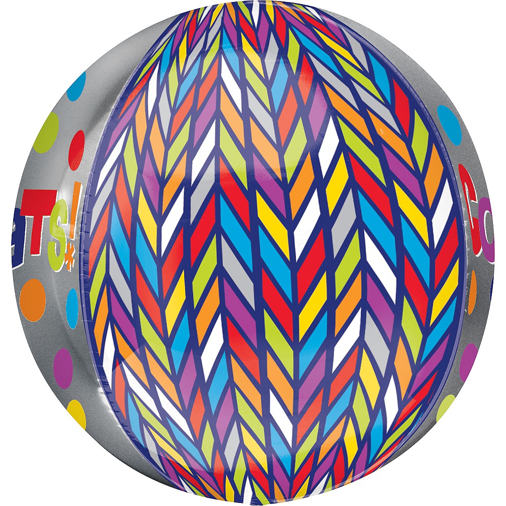 Orbz Dotty Geometric Congrats Balloon, 16in Image #2