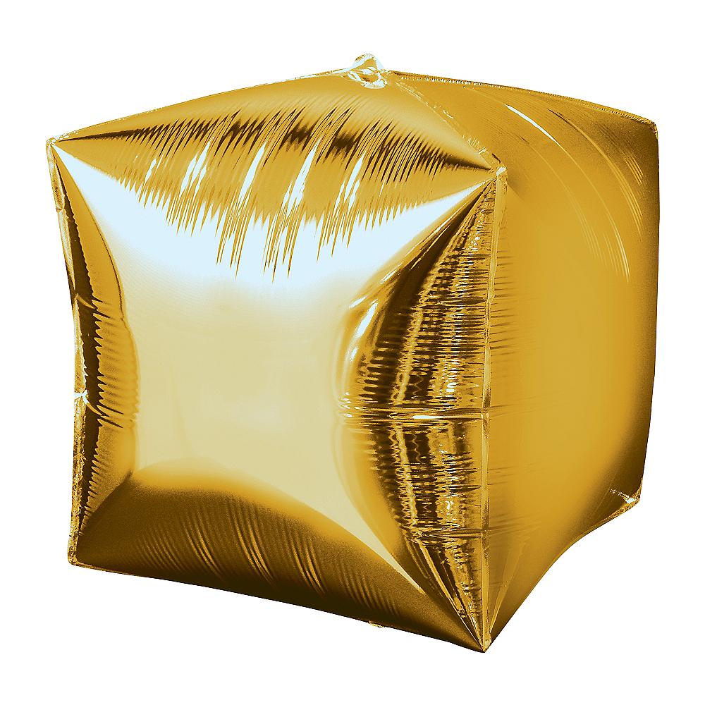 Gold Cubez Balloon, 15in Image #1