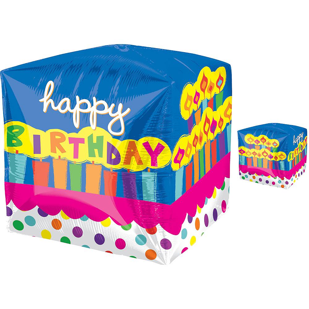Cubez Birthday Cake Balloon, 15in Image #1