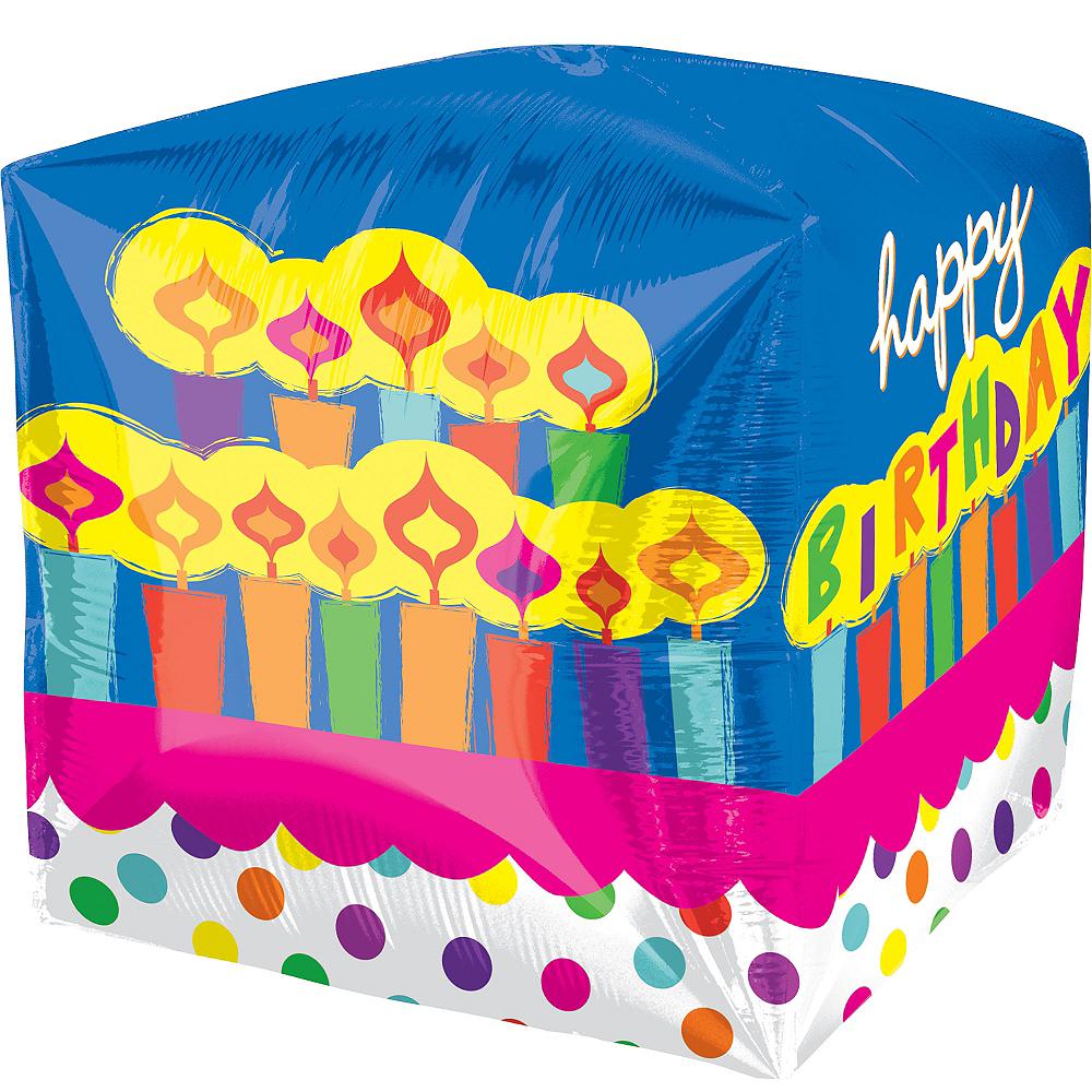 Cubez Birthday Cake Balloon, 15in Image #2