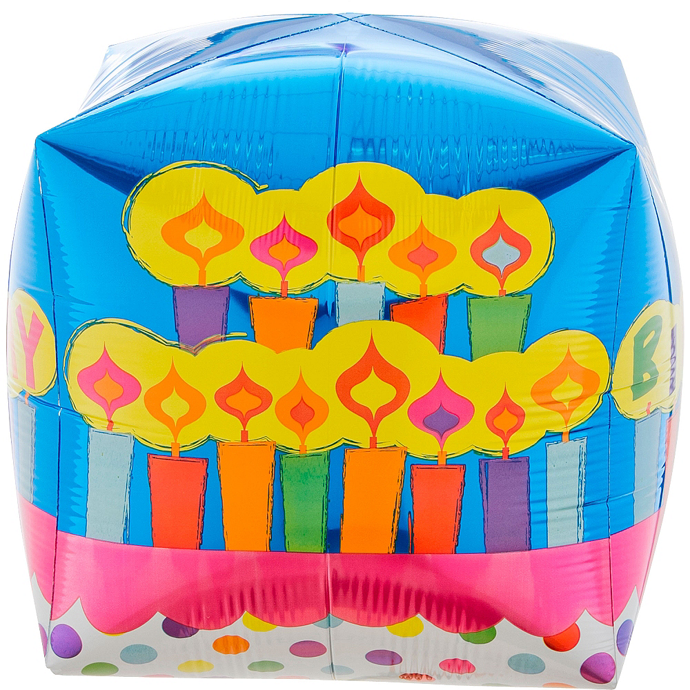 Cubez Birthday Cake Balloon, 15in Image #3