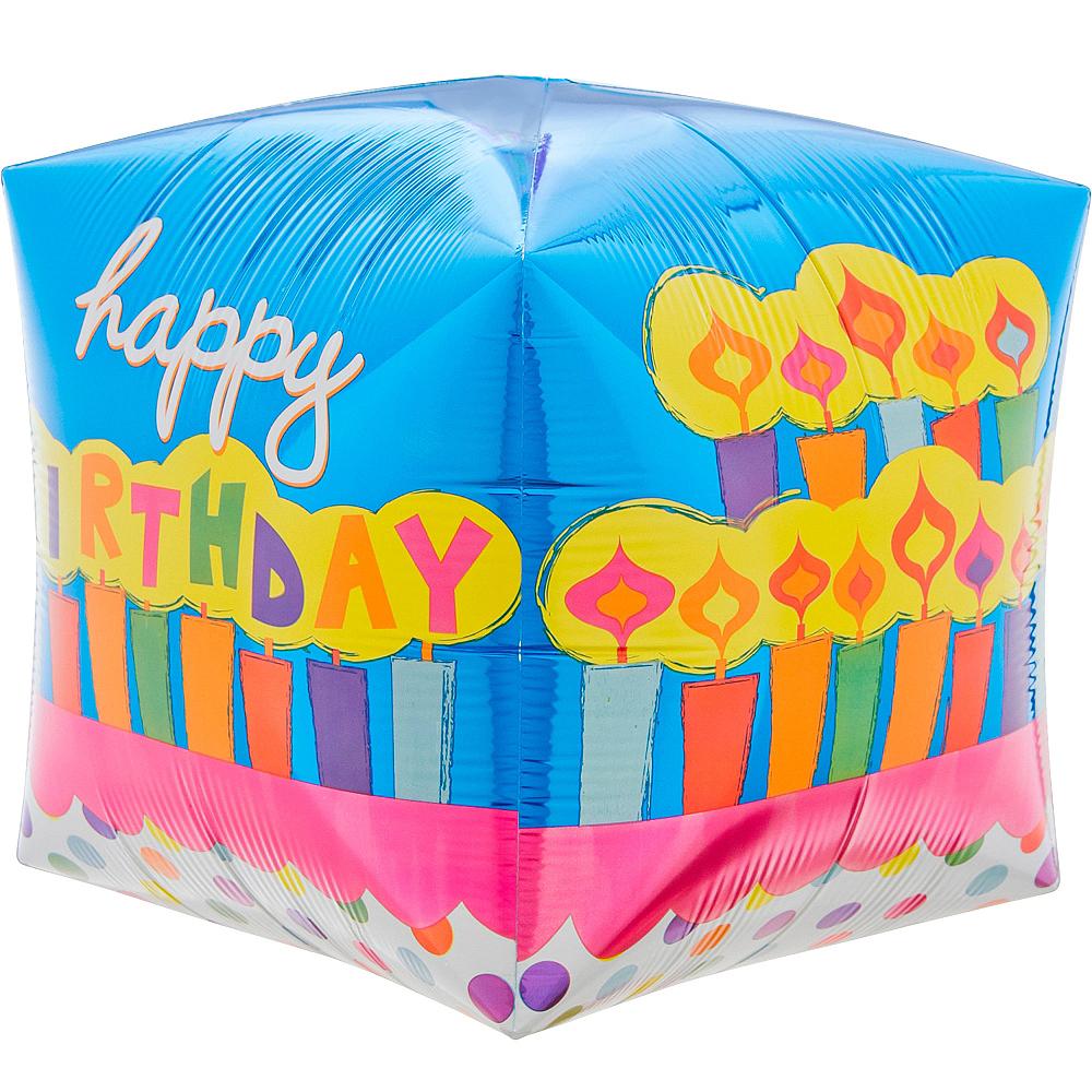 Cubez Birthday Cake Balloon, 15in Image #4