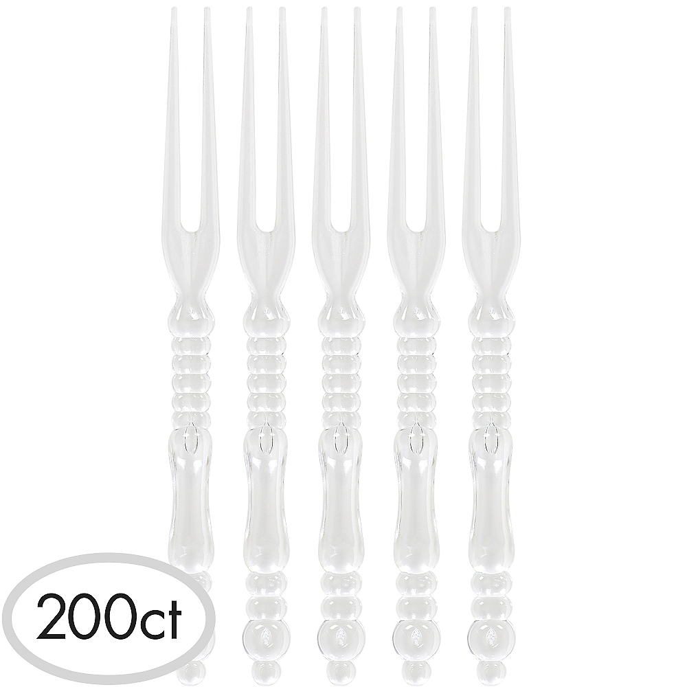 Nav Item for Tall CLEAR Plastic Cocktail Picks 200ct Image #1