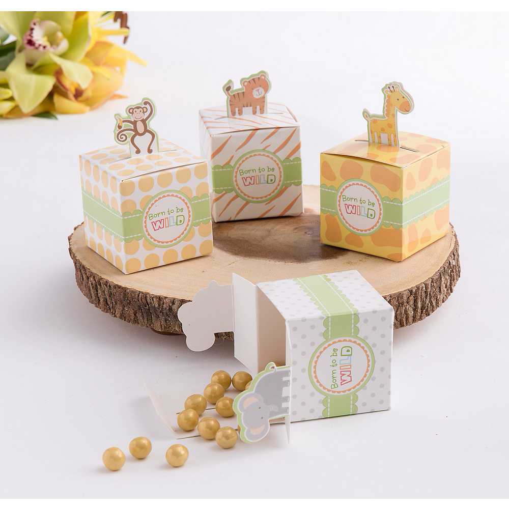 Born to Be Wild Jungle Favor Boxes 24ct Image #1