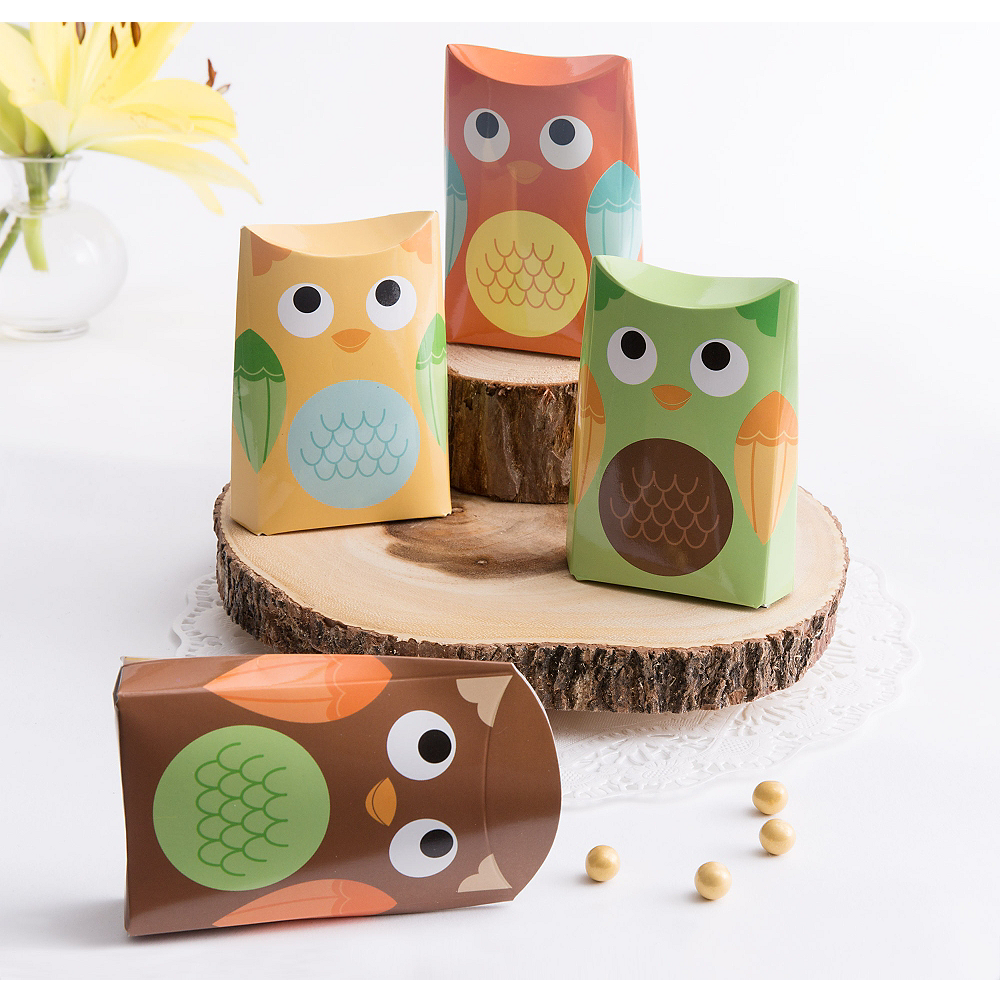 Owl Favor Boxes 24ct Image #1