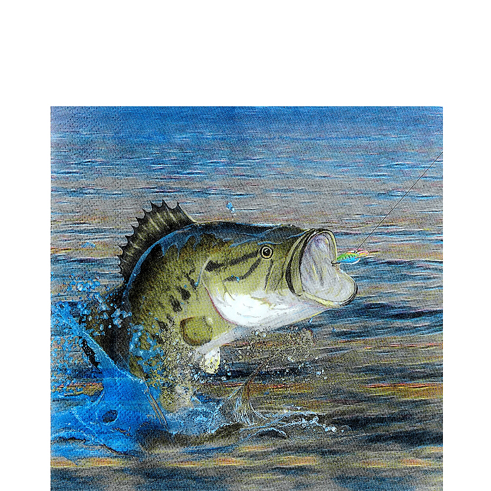 Nav Item for Gone Fishing Lunch Napkins 16ct Image #1