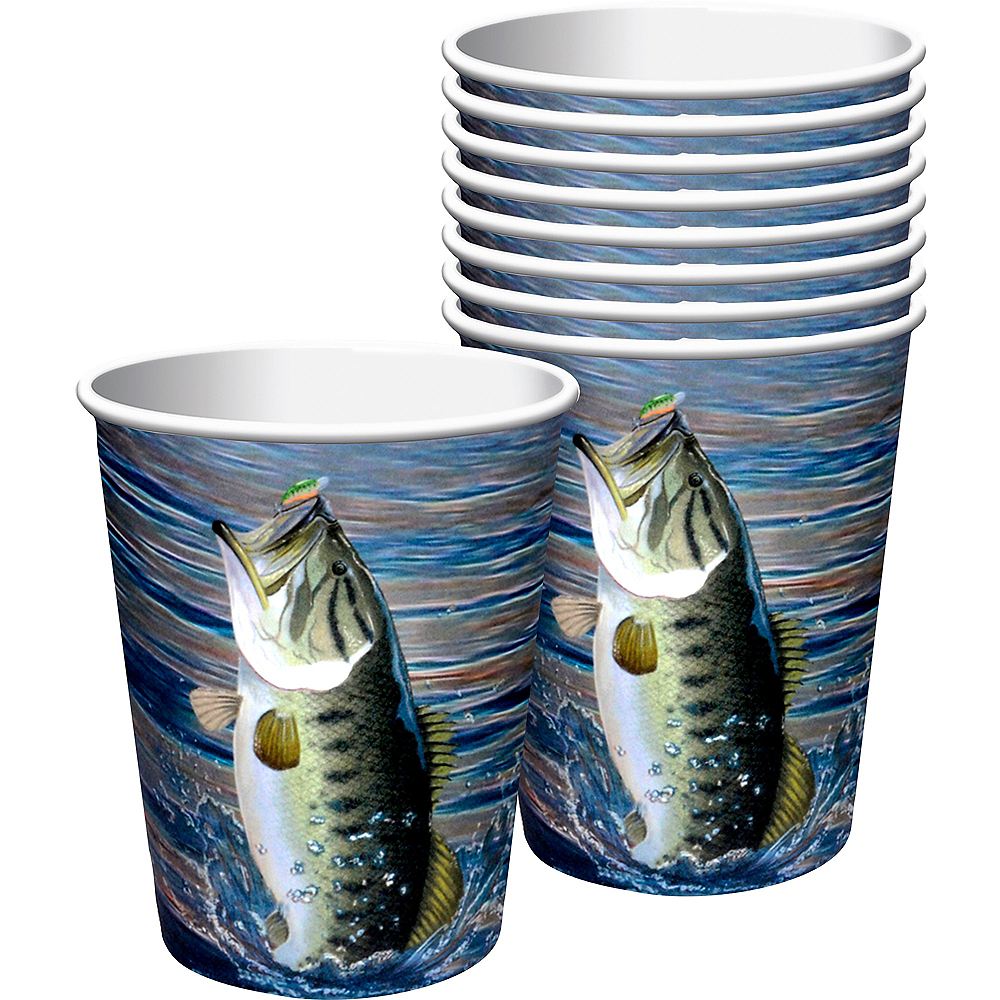 Gone Fishing Cups 8ct Image #1