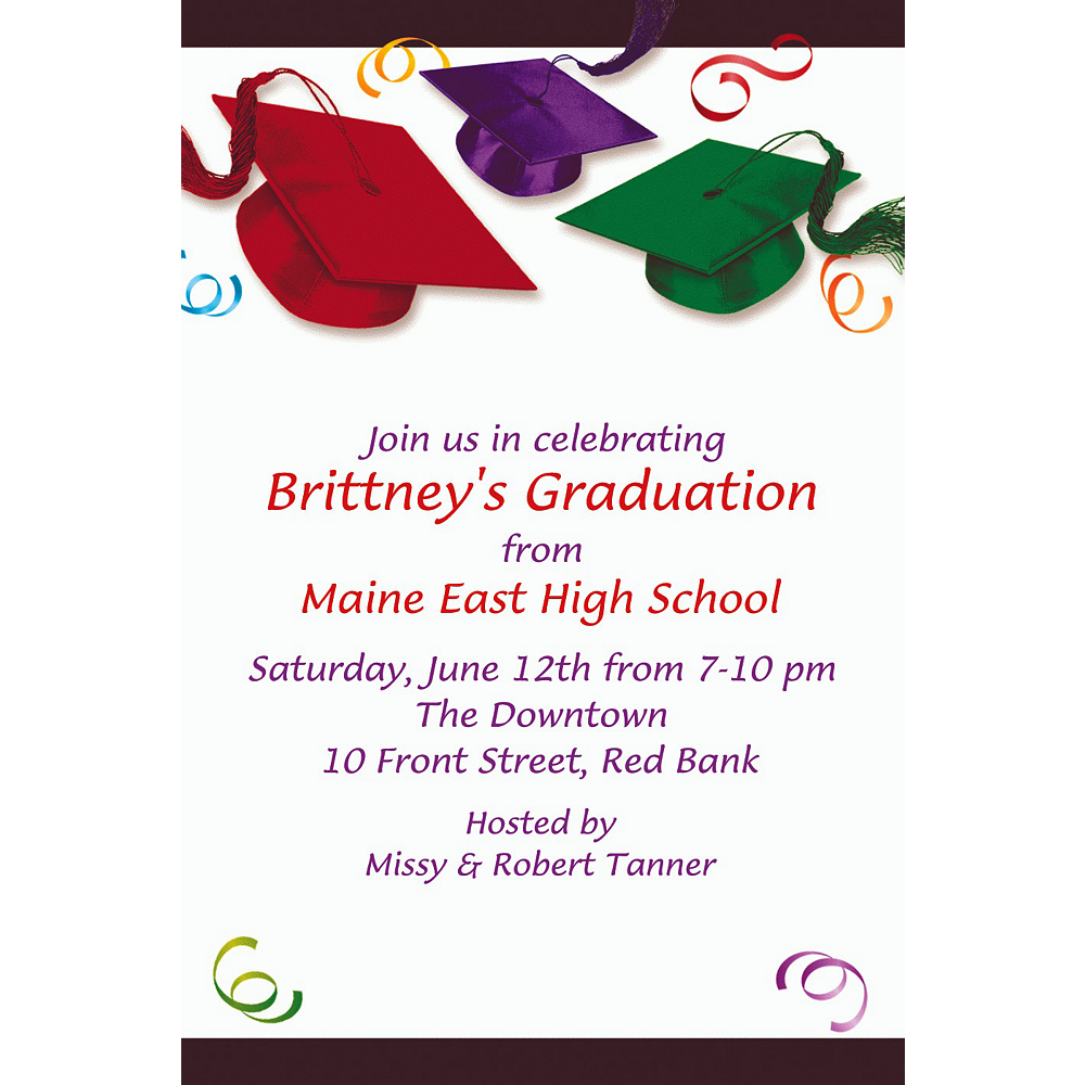 Custom School's Out Graduation Invitations    Image #1