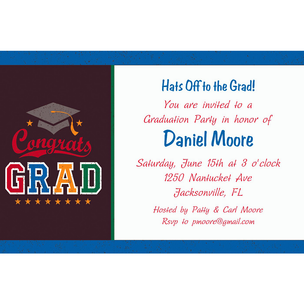 Custom Made The Grade Graduation Invitations  Image #1