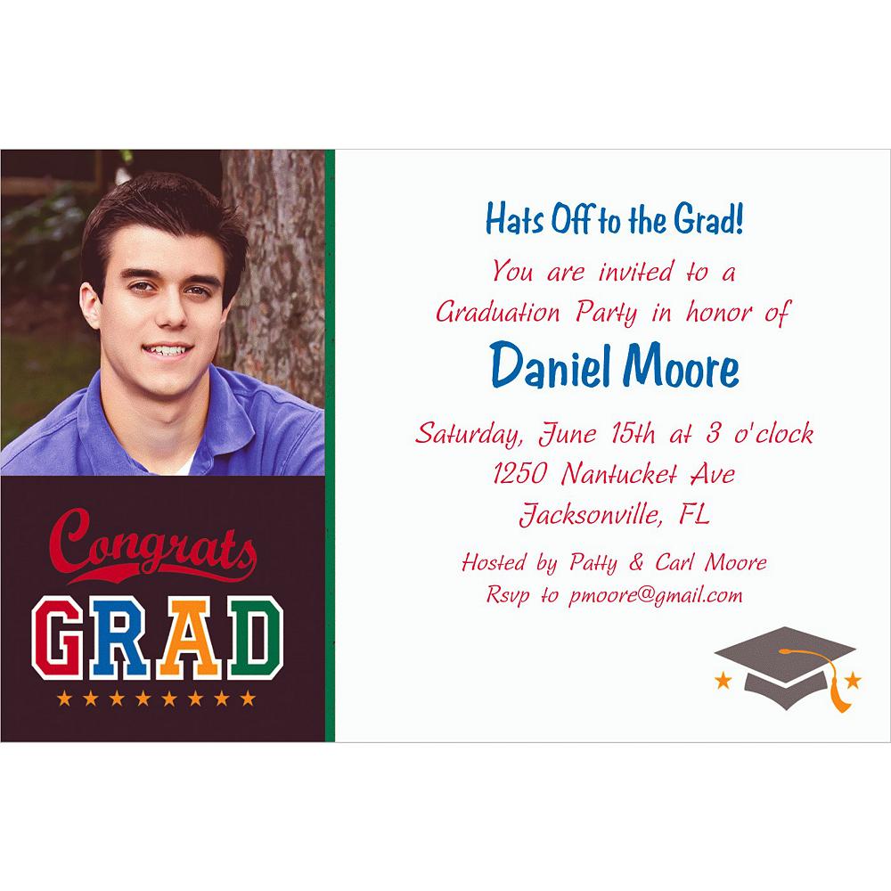 Custom Made The Grade Graduation Photo Invitations  Image #1