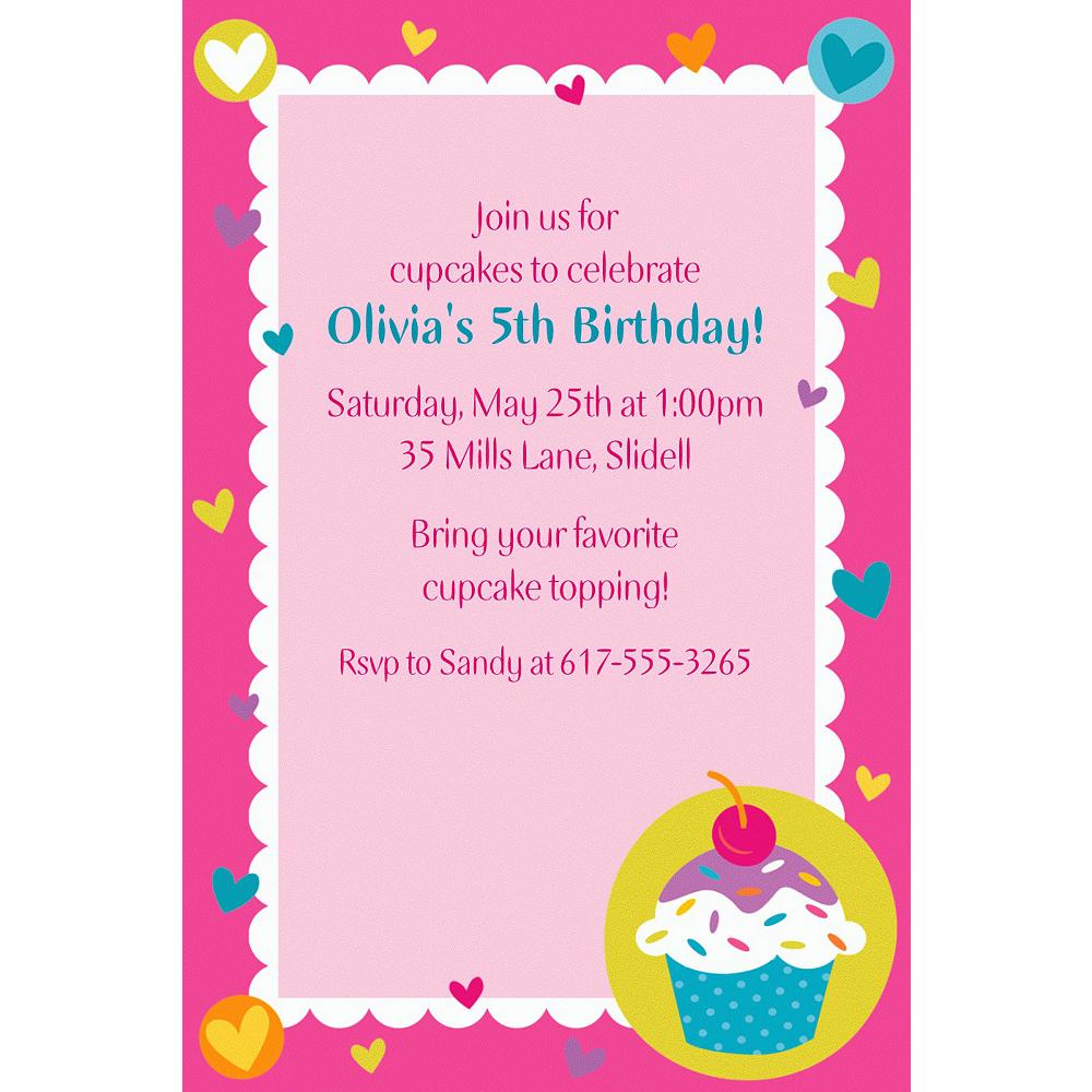 Custom Cupcake Party Invitations Image #1