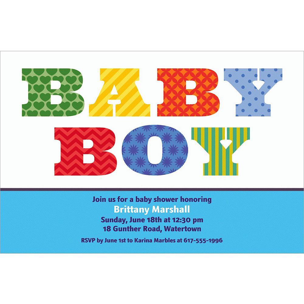Custom Big Baby Boy Invitations Image #1