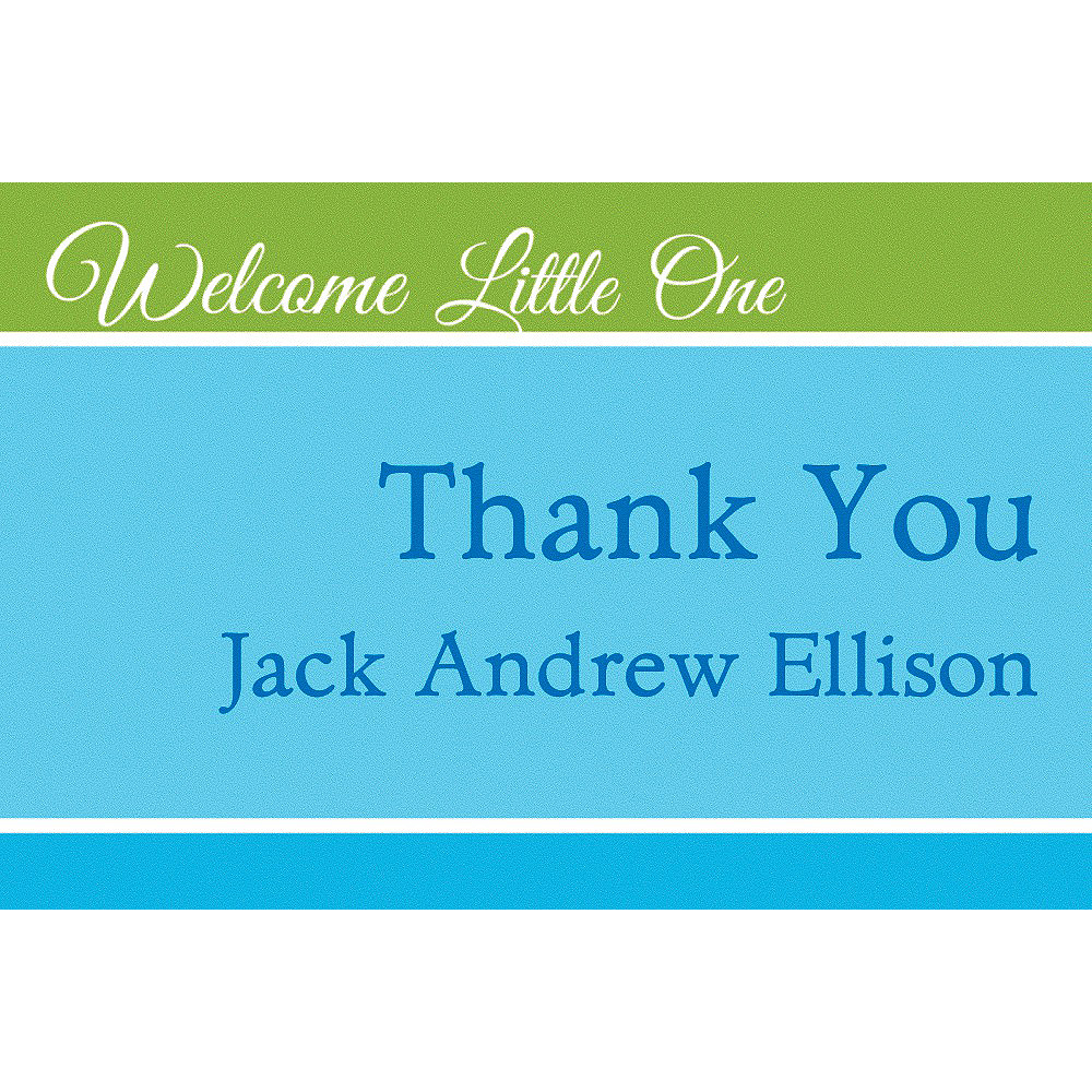 custom welcome little one boy thank you notes party city