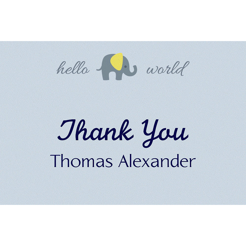 Custom Hello World Neutral Thank You Note  Image #1