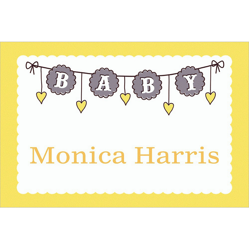 Custom Baby Clothesline Neutral Thank You Notes Image #1