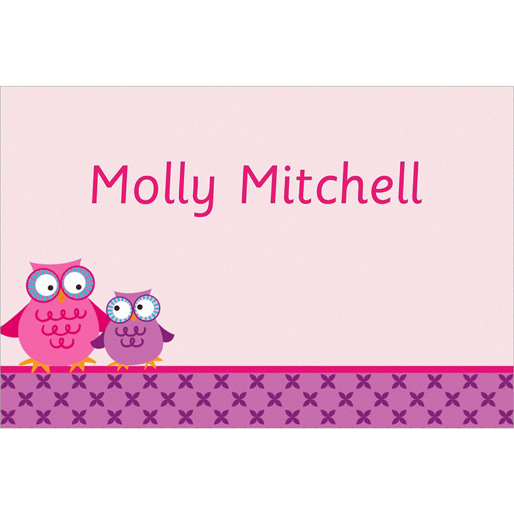 Custom Owls on a Branch Thank You Notes Image #1