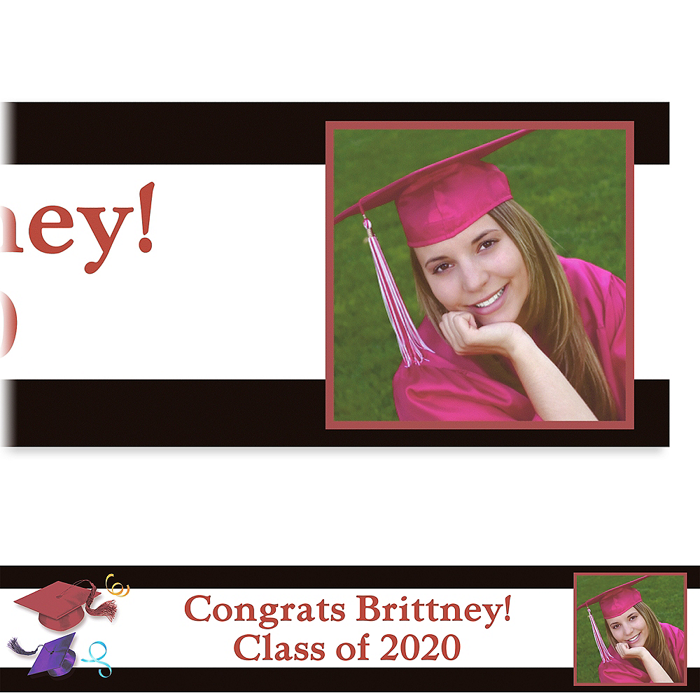 Custom School's Out Graduation Photo Banner 6ft  Image #1