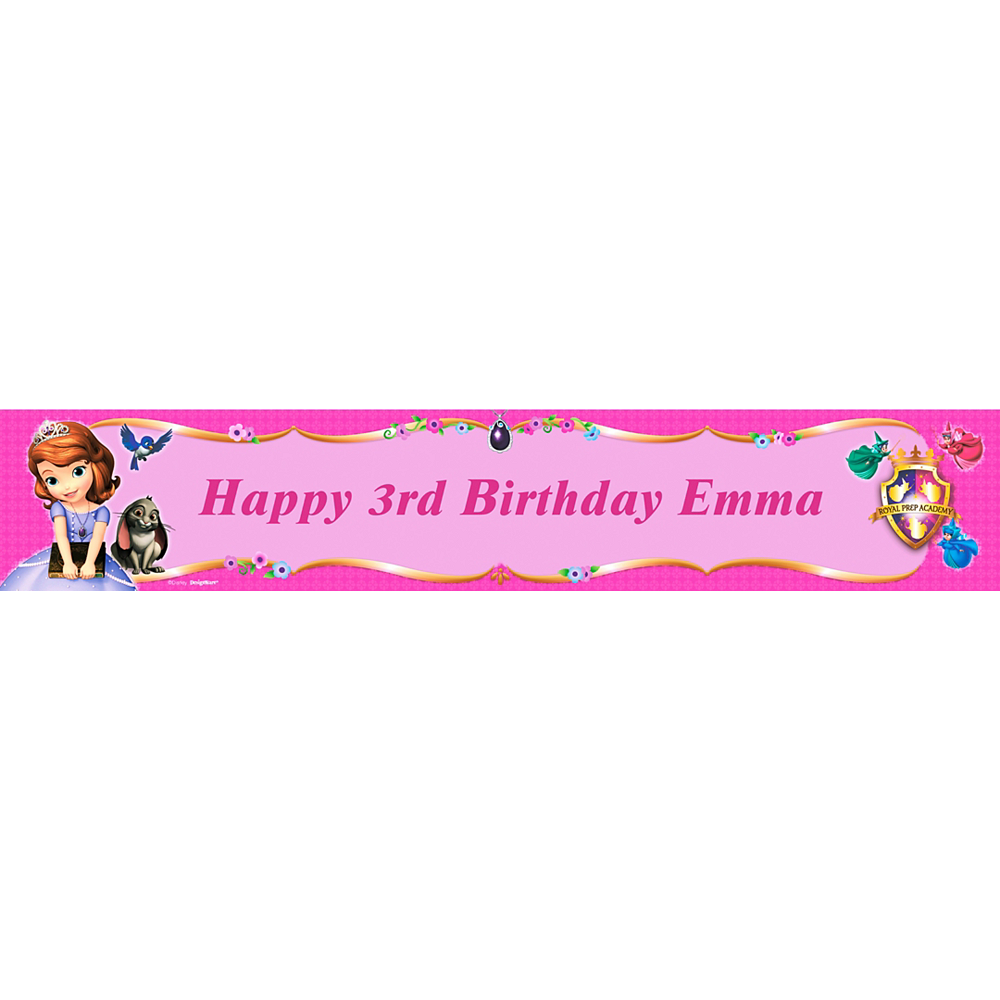 Custom Sofia the First Banner 6ft Image #1