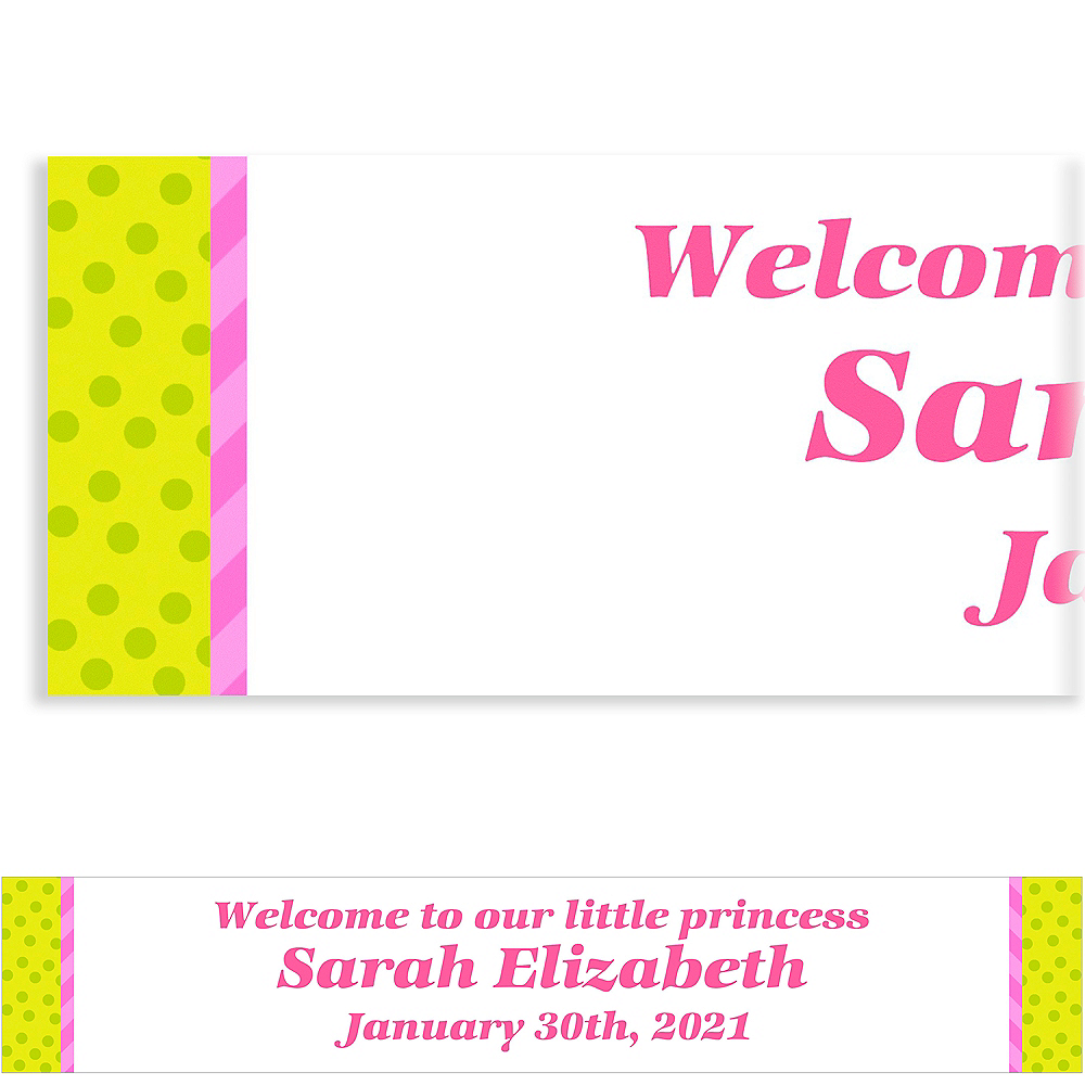 custom welcome square girl banners party city
