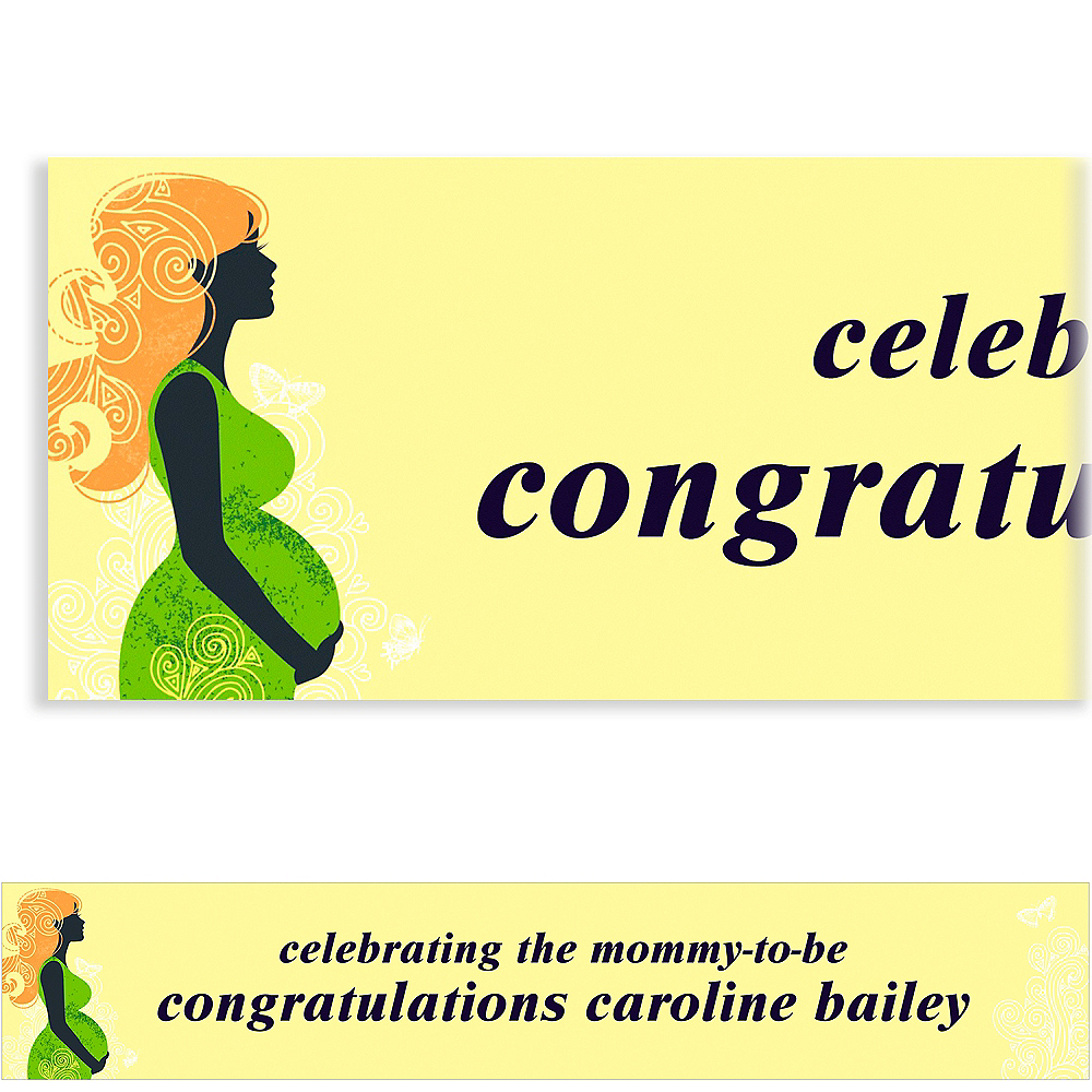 Custom Earth Mama Neutral Baby Shower Banner 6ft Image #1