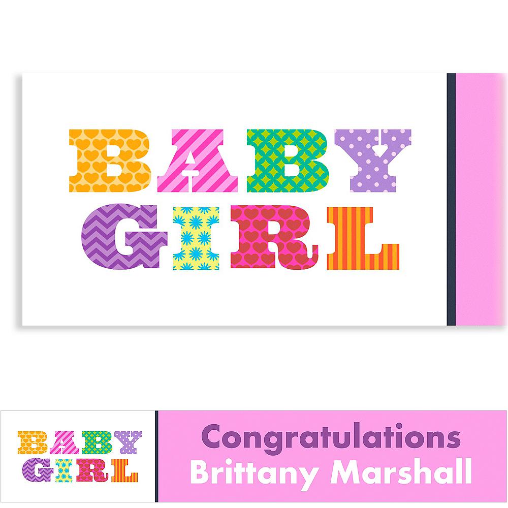 Custom Big Baby Girl Baby Shower Banner 6ft Image #1