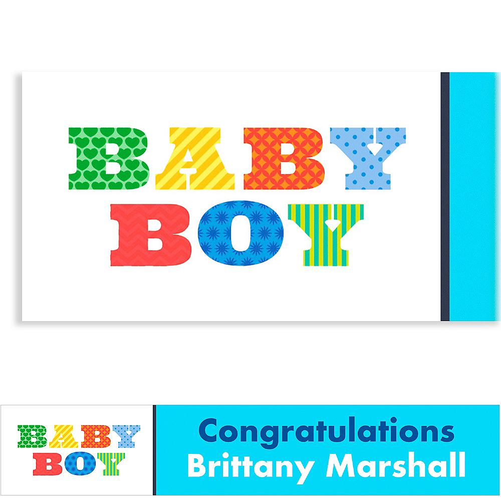 Custom Big Baby Boy Baby Shower Banner 6ft Image #1