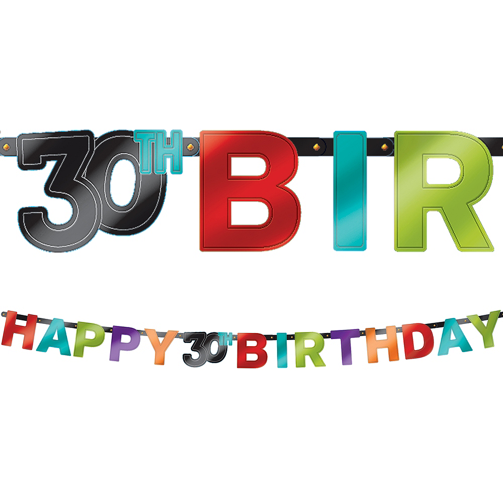 celebrate 30th birthday banner 7ft party city