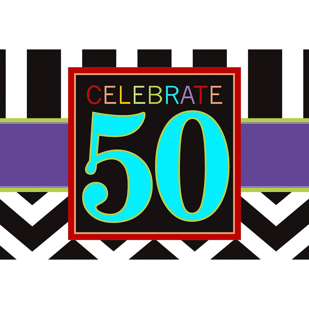 Celebrate 50th Birthday Invitations 8ct Image #1