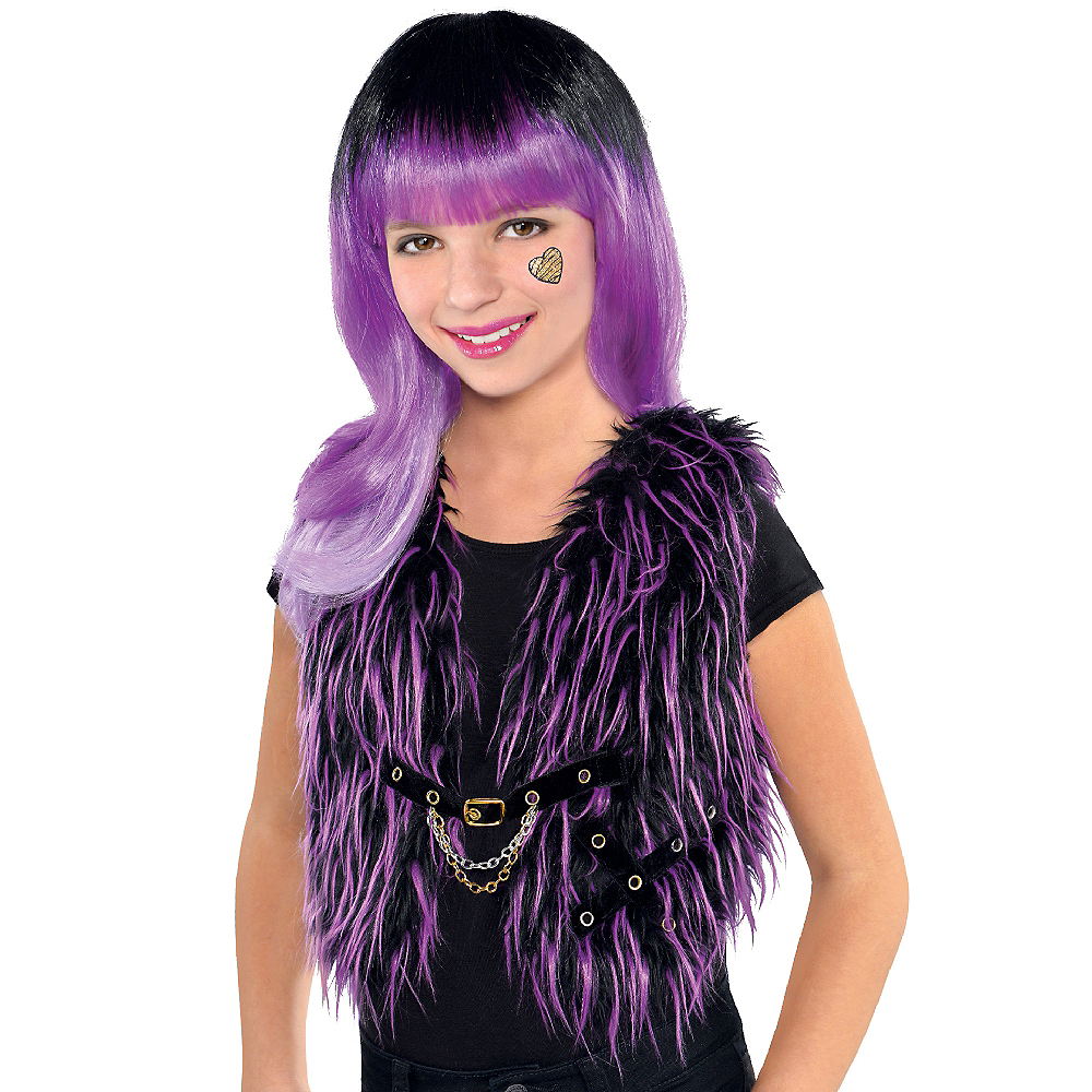 Girls Monster High Furry Vest Image #2