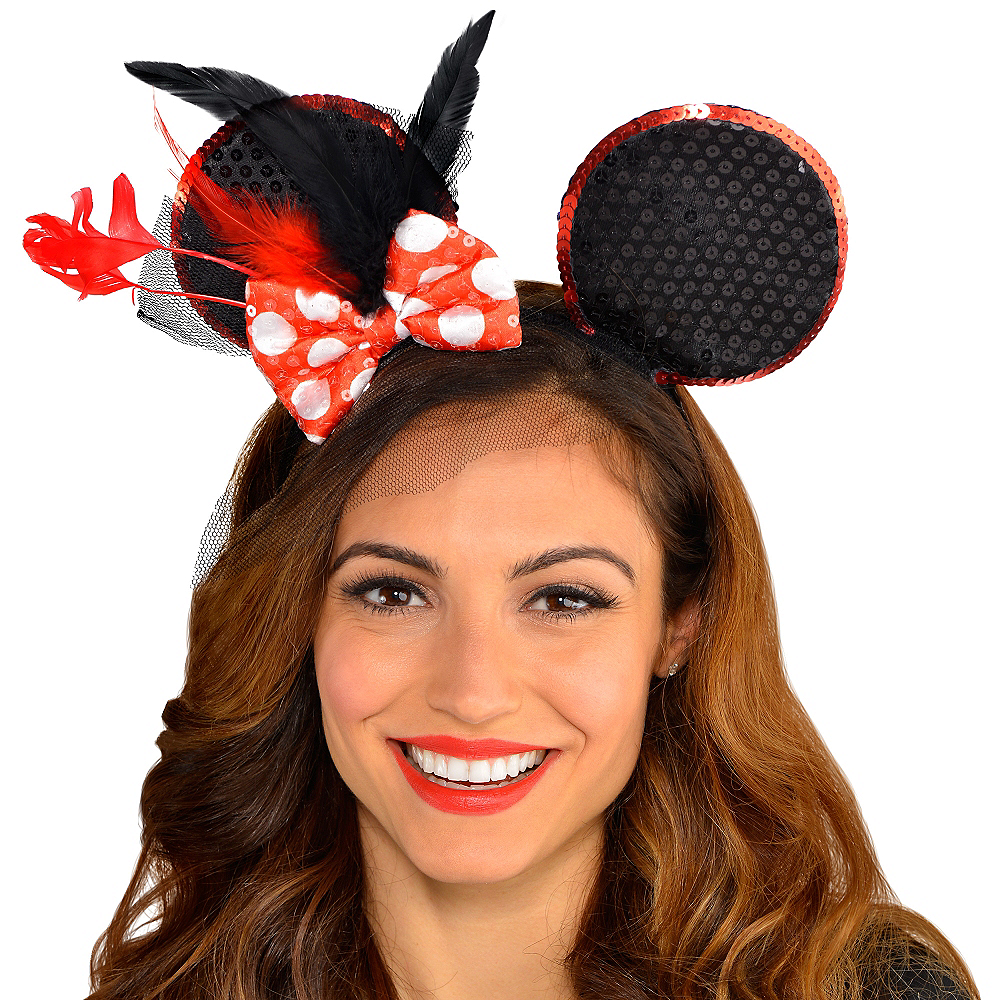 ... Minnie Mouse Fascinator Headband Image  2 a7b7cf1989a