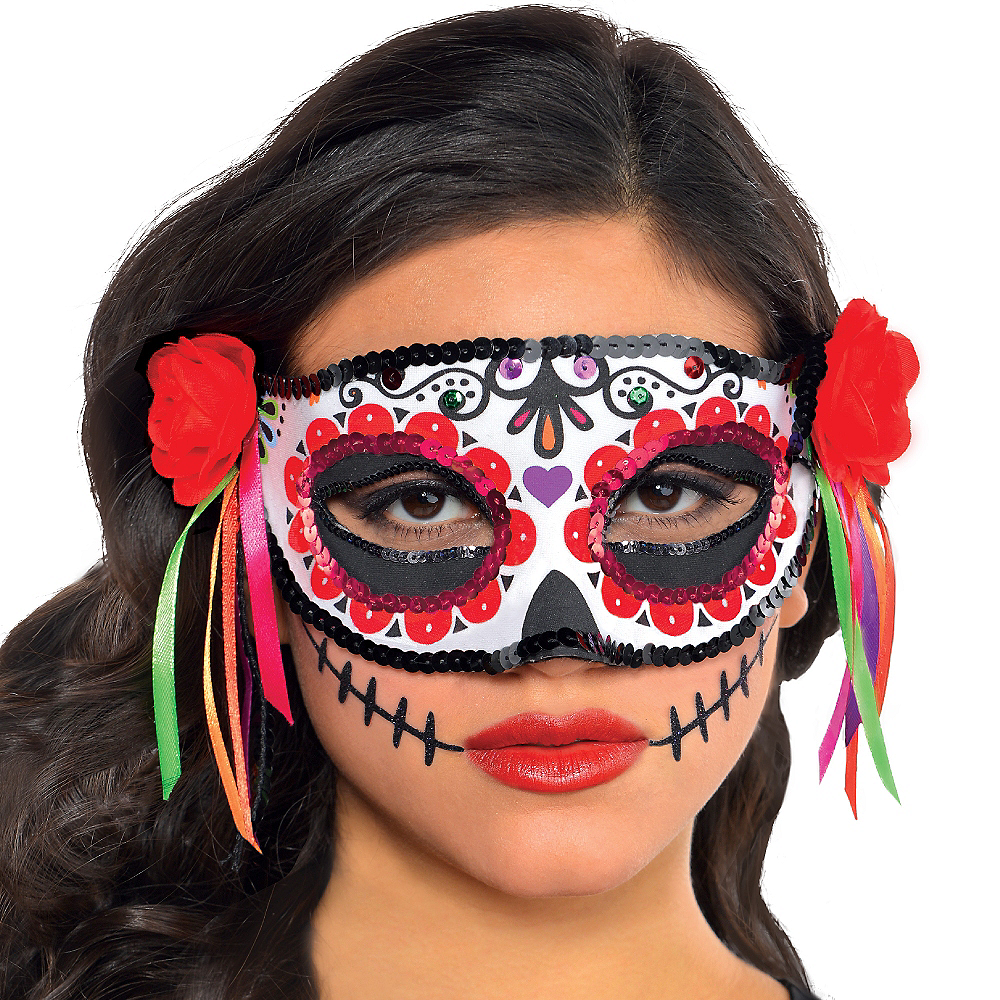Day of the Dead Masquerade Mask Image #2