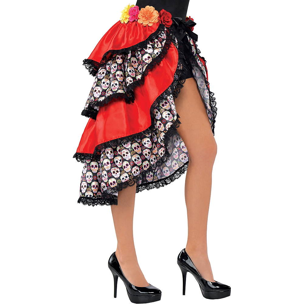 Day of the Dead Tie-On Bustle Image #1
