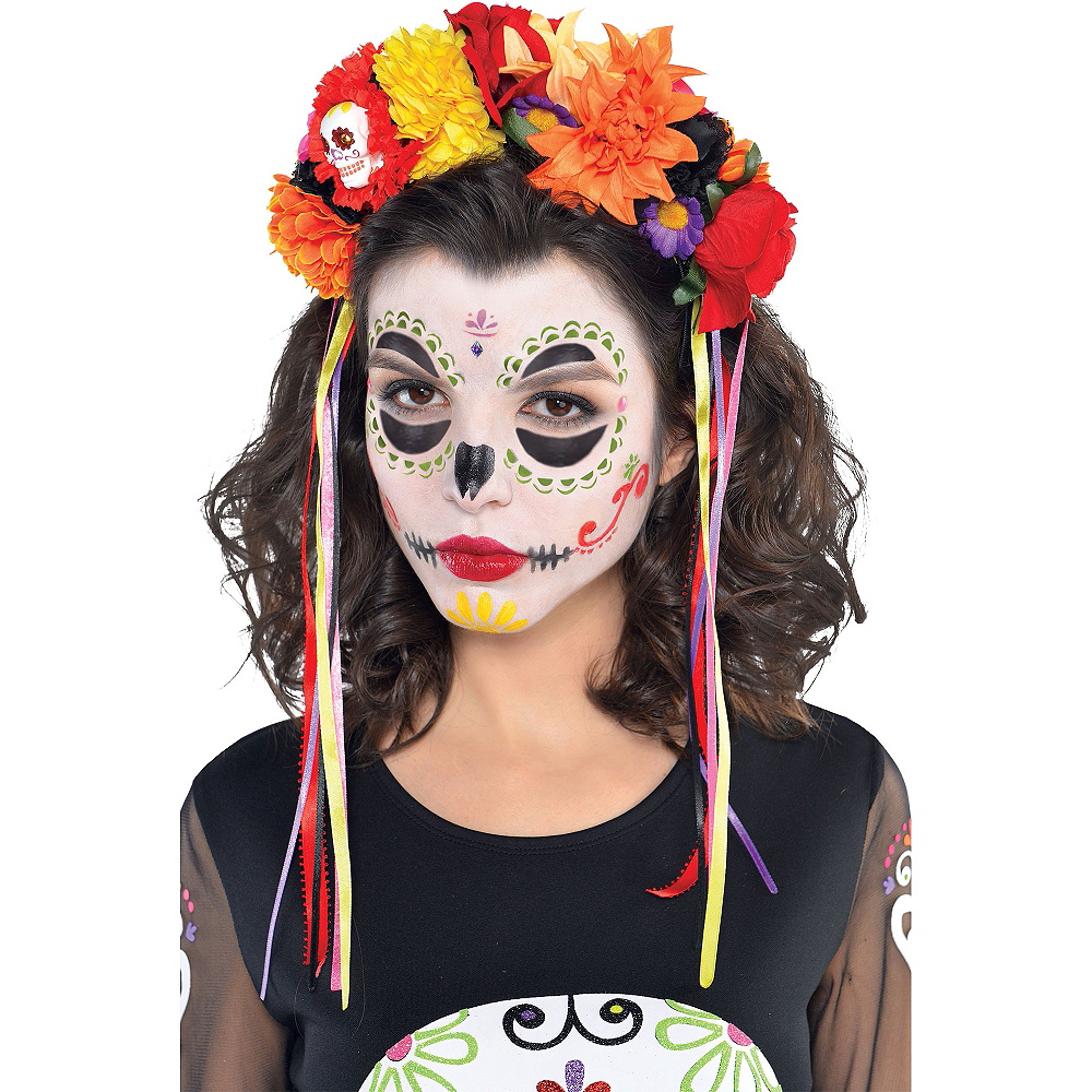 Day Of The Dead Makeup Kit Party City - How-to-do-day-of-the-dead-makeup
