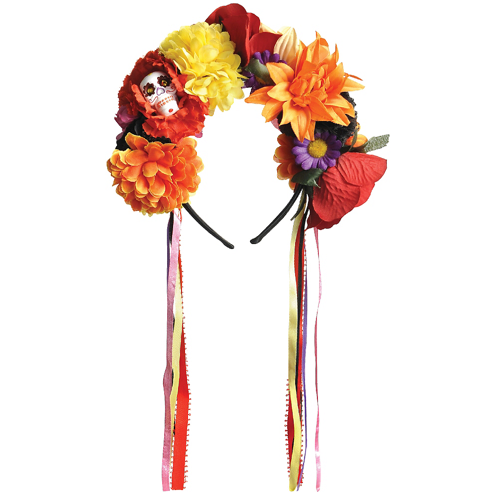 Day of the Dead Floral Headband Image #1