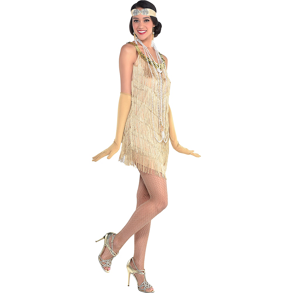 Roaring \'20s Champagne Flapper Dress