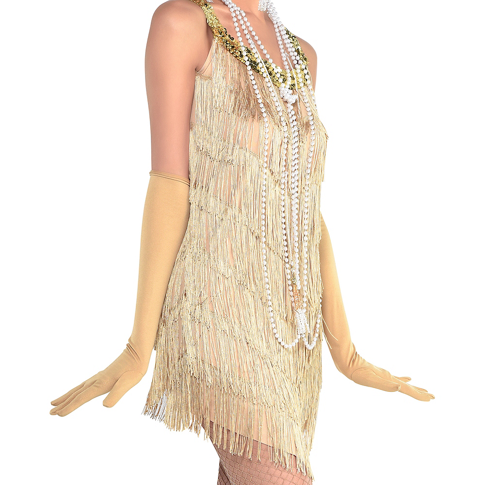 Roaring '20s Champagne Flapper Dress Image #2