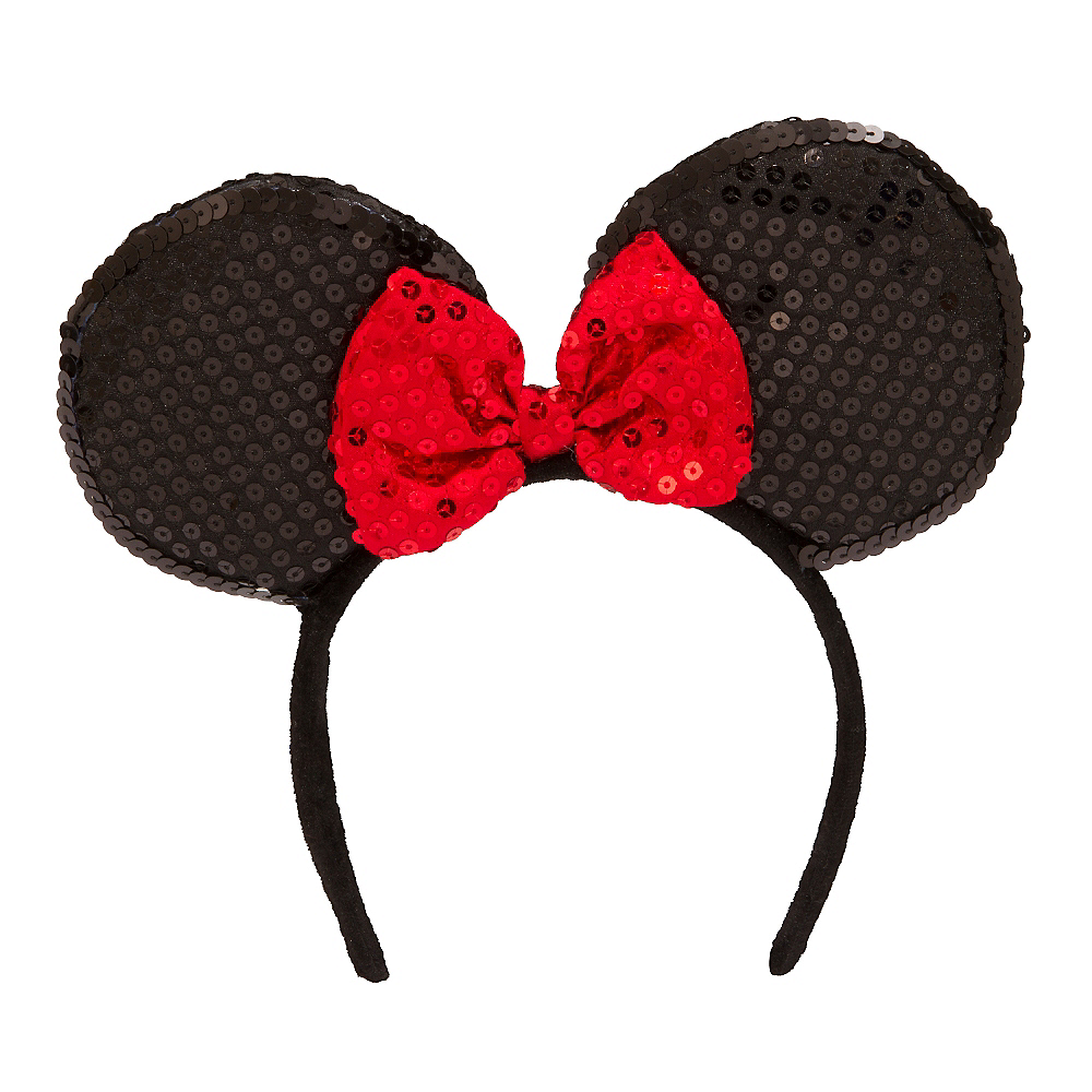 Minnie Mouse Sequin Bow Headband Party City