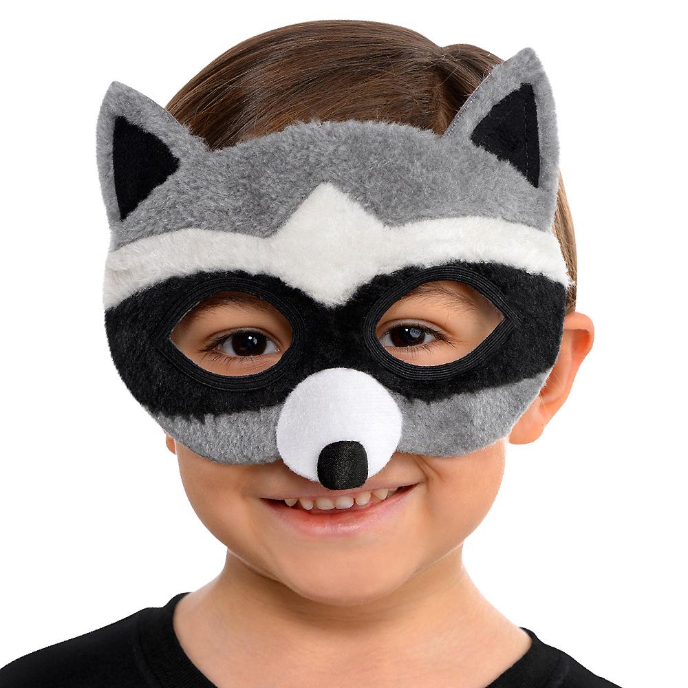 Child Plush Raccoon Mask Image #2