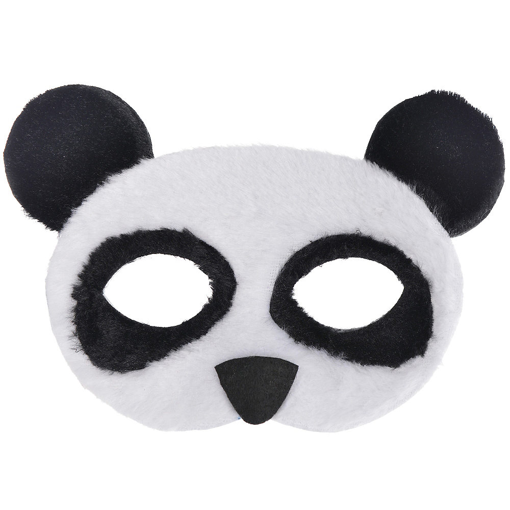 Child Plush Panda Mask Image #1