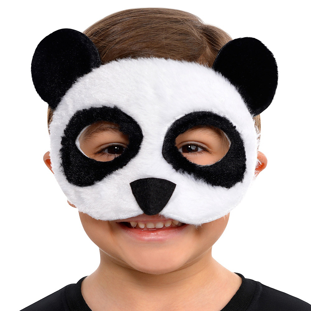 Child Plush Panda Mask Image #2