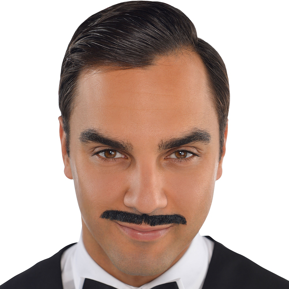 Roaring '20s Black Pencil Moustache Image #2