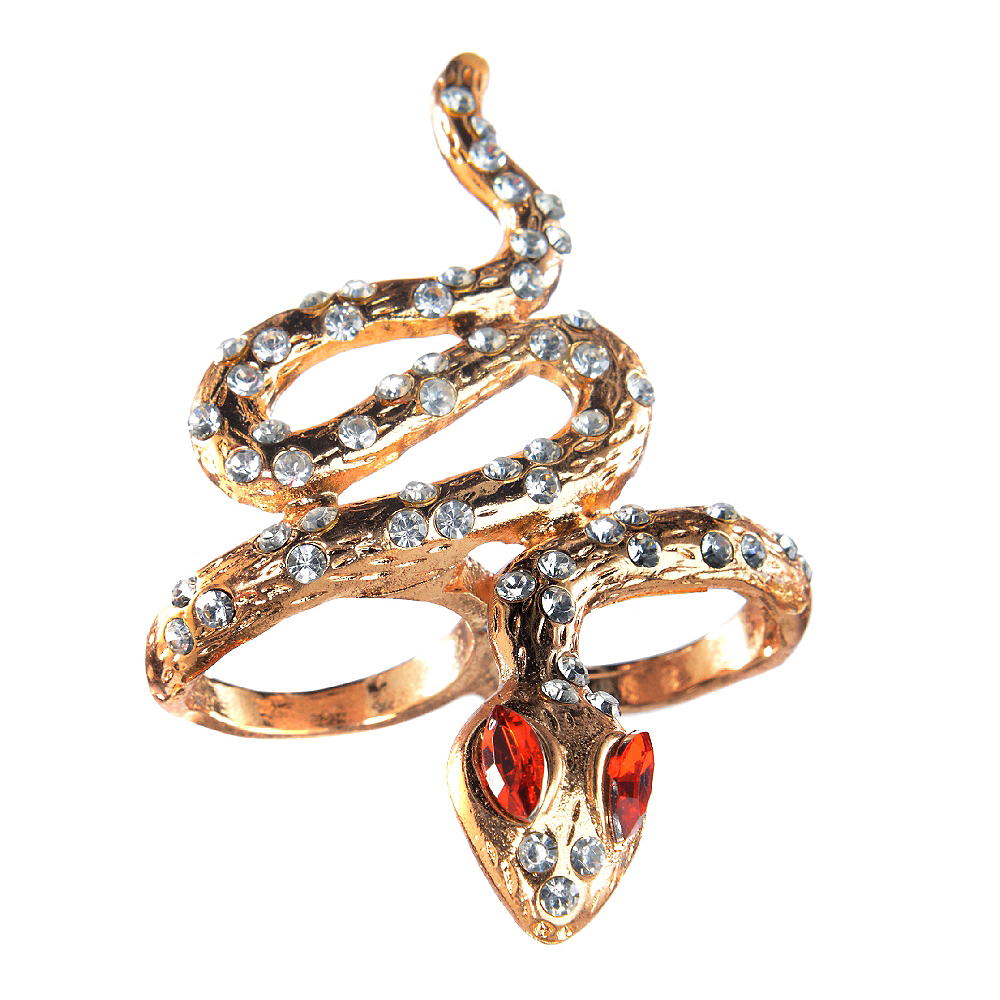Gold Snake Ring Image #1