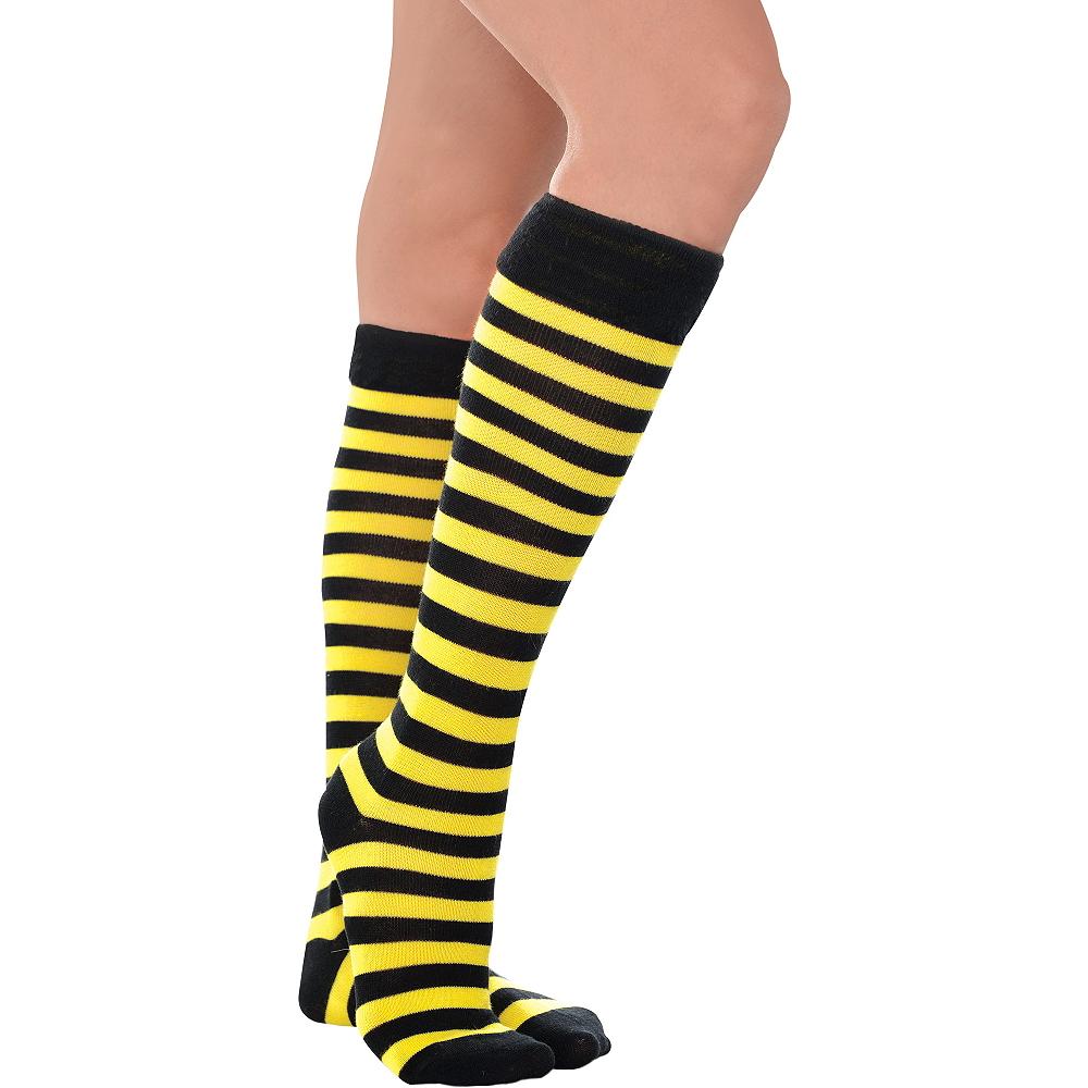 b75671e6ef1 Bee Knee-High Socks Image  1