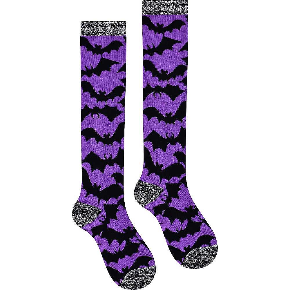 Purple Bat Knee-High Socks Image #2