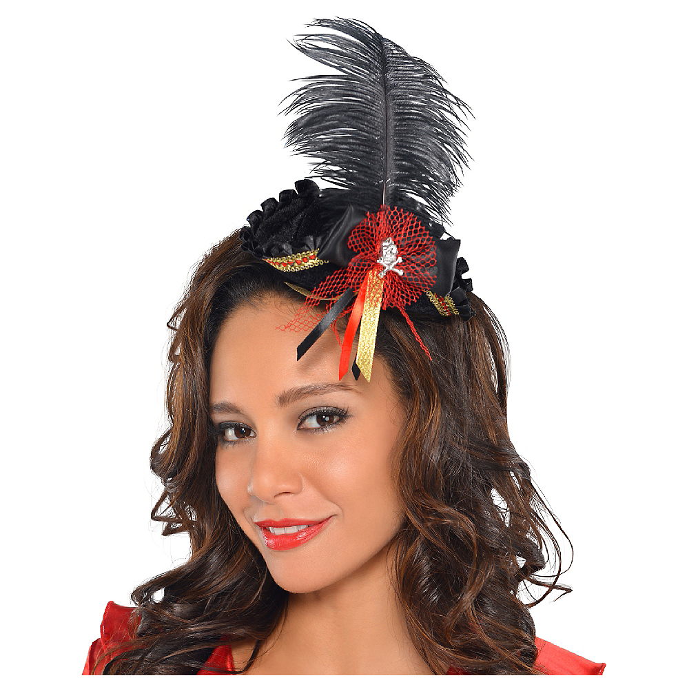 Feathered Pirate Tricorner Headpiece Image #1