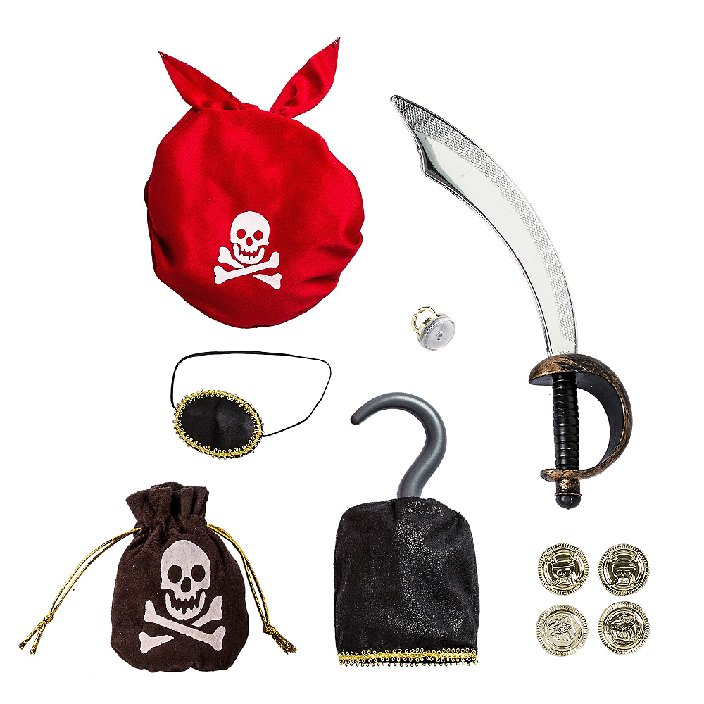 Child Swashbuckling Pirate Accessory Kit Image #1
